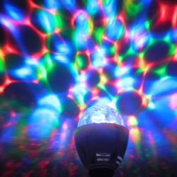 Лампа Lemanso світлодіодна СУПЕР ДИСКО E27 RGB 3W 230V / LM3027 Lemanso - 1