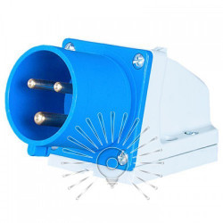 Вилка стационарная LM2030 (ВС) Lemanso 16А/3п (2п+н) 220-240V IP44 синяя Lemanso - 1