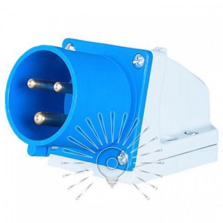 Вилка стаціонарна LM2030 (ВС) Lemanso 16А / 3п (2п + н) 220-240V IP44 синя Lemanso - 1
