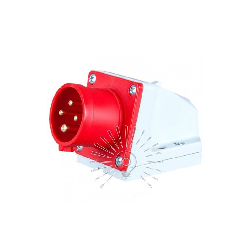 Вилка стаціонарна LM2032 (ВС) Lemanso 16А / 4п (3п + н) 380-415V IP44 червона Lemanso - 1