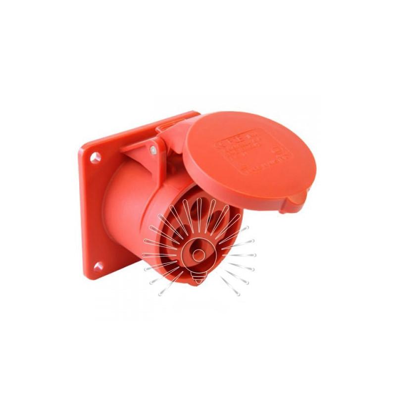 Гніздо врізне LM2009 (ГВ) Lemanso 32А / 4п (3п + н) 380-415V IP44 червоне Lemanso - 1
