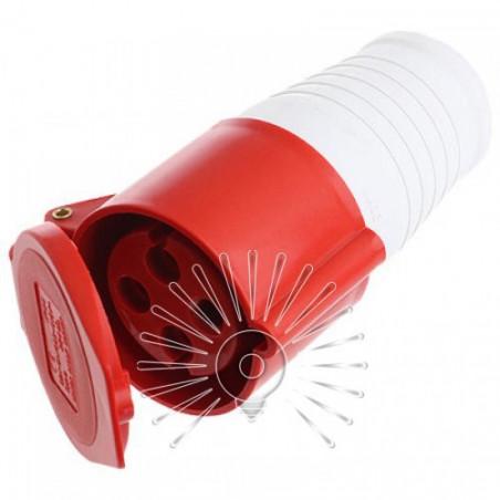 Гніздо переносне LM2016 (ДП) Lemanso 16А 4п (3п + н) 380-415V IP44 червоне Lemanso - 1