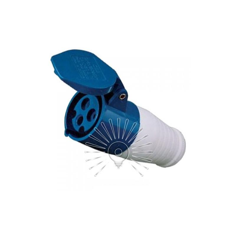 Гніздо переносне LM2015 (ДП) Lemanso 32А / 3п (2п + н) 220-240V IP44 синє Lemanso - 1