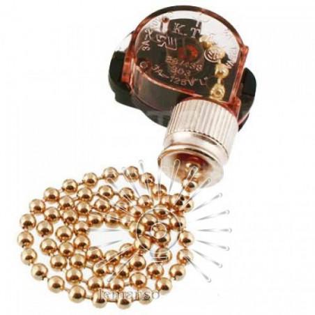 Вимикач Lemanso з ланцюжком + 10см провід LMA033 Lemanso - 1