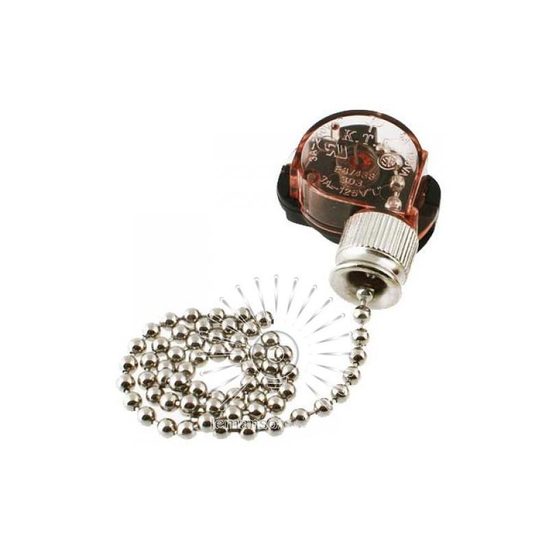 Выключатель Lemanso с цепочкой + 10см провод LMA033 Lemanso - 2