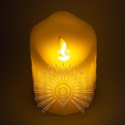 Свеча LED Lemanso 75*100мм 2700K 3xAAA (нет в компл.) IP20 / LM36001 (+пульт, еф. пламя) Lemanso - 1