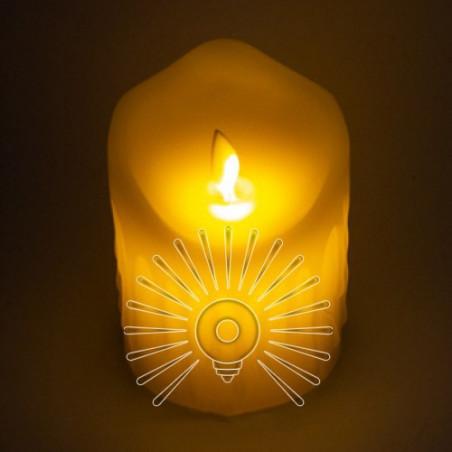 Свічка LED Lemanso 75*100мм 2700K 3xAAA (немає в компл.) IP20 / LM36001 (+ пульт, еф. Полум'я) Lemanso - 1