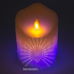 Свічка LED Lemanso 75 * 100мм RGB 3xAAA (немає в компл.) IP20 / LM36006 (+ пульт, еф. Полум'я) Lemanso - 1