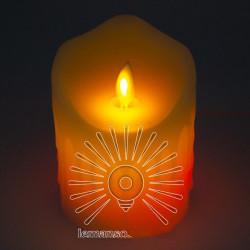 Свічка LED Lemanso 75 * 100мм RGB 3xAAA (немає в компл.) IP20 / LM36006 (+ пульт, еф. Полум'я) Lemanso - 2