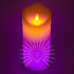 Свеча LED Lemanso 75*175мм RGB 3xAAA (нет в компл.) IP20 / LM36009 Lemanso - 1