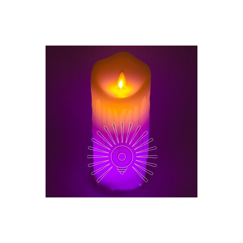 Свічка LED Lemanso 75 * 175мм RGB 3xAAA (немає в компл.) IP20 / LM36009 Lemanso - 1