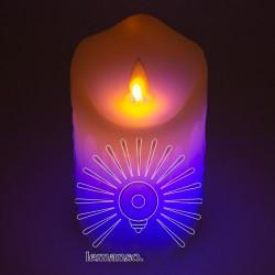 Свічка LED Lemanso 75 * 125мм RGB 3xAAA (немає в компл.) IP20 / LM36007 (+ пульт, еф. Полум'я) Lemanso - 1