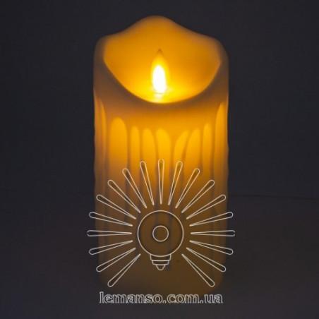 Свічка LED Lemanso 75 * 150мм 2700K 3xAAA (немає в компл.) IP20 / LM36003 (+ пульт, еф. Полум'я) Lemanso - 1