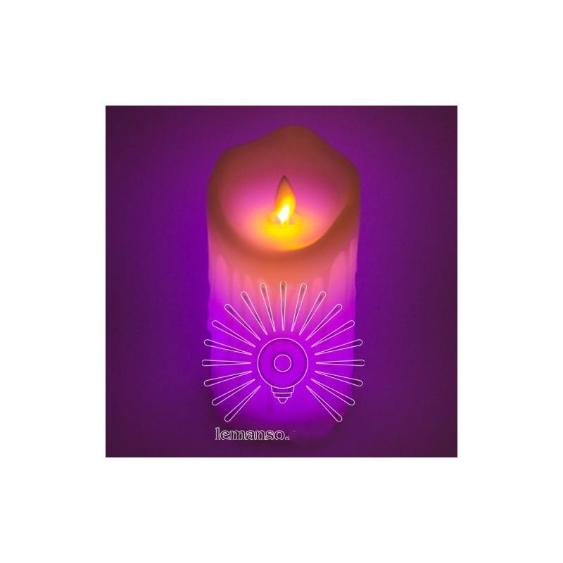 Свічка LED Lemanso 75 * 150мм RGB 3xAAA (немає в компл.) IP20 / LM36008 (+ пульт, еф. Полум'я) Lemanso - 2