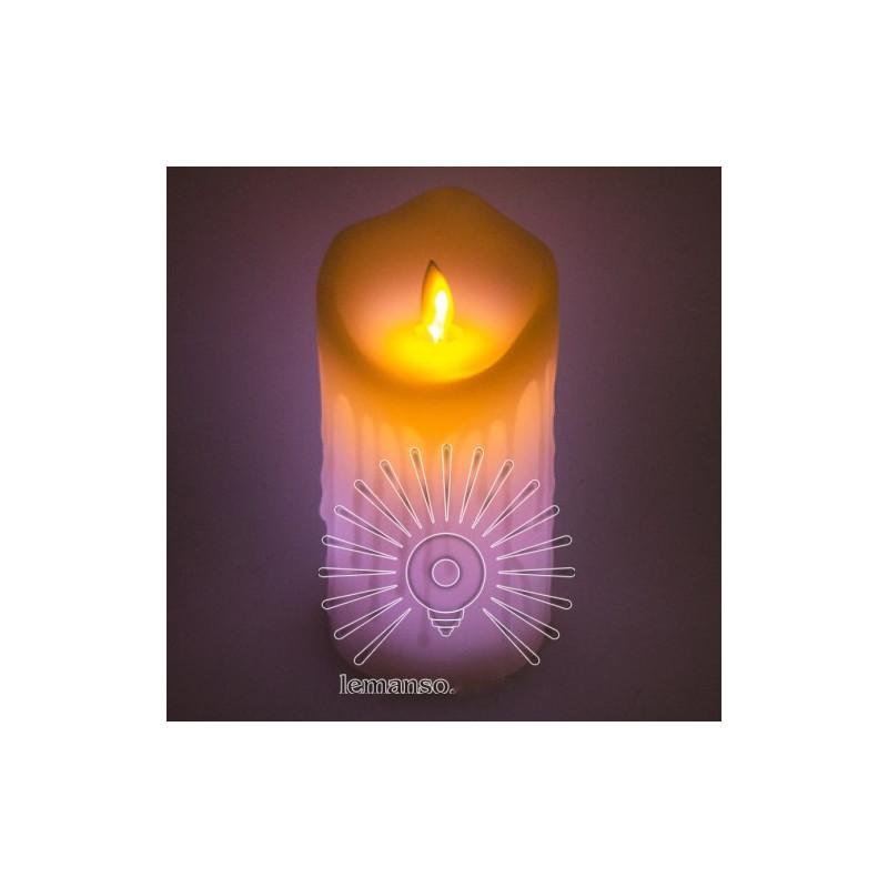 Свічка LED Lemanso 75 * 150мм RGB 3xAAA (немає в компл.) IP20 / LM36008 (+ пульт, еф. Полум'я) Lemanso - 5