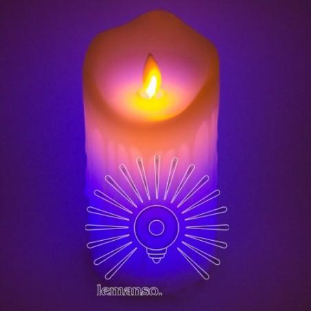Свічка LED Lemanso 75 * 150мм RGB 3xAAA (немає в компл.) IP20 / LM36008 (+ пульт, еф. Полум'я) Lemanso - 1
