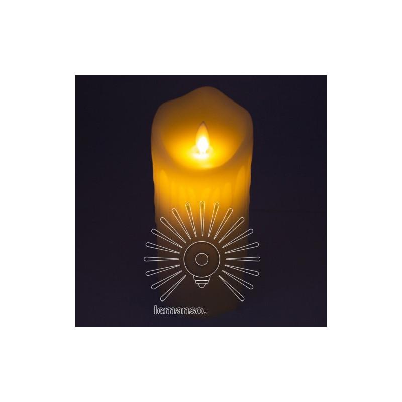 Свічка LED Lemanso 75 * 175мм 2700K 3xAAA (немає в компл.) IP20 / LM36004 (+ пульт, еф. Полум'я) Lemanso - 1