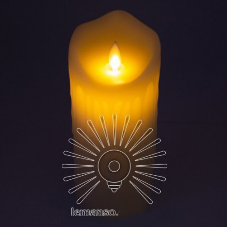 Свеча LED Lemanso 75*175мм 2700K 3xAAA (нет в компл.) IP20 / LM36004 (+пульт, еф. пламя) Lemanso - 1
