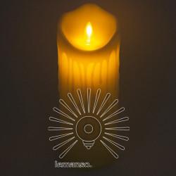 Свічка LED Lemanso 75 * 200мм 2700K 3xAAA (немає в компл.) IP20 / LM36005 (+ пульт, еф. Полум'я) Lemanso - 1