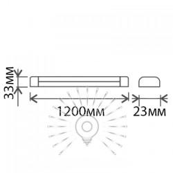 """Світильник Lemanso 16W T5 2PIN 6500K 1600LM """"Пітон"""" + вимикач + 13,5cм мережевий шнур + кріплення до стіни / LM31004 Lemanso - 3"""
