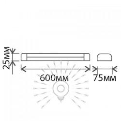 Світильник Lemanso 18W 6500K 1200LM IP20 0.6м / LM25-20 метал Lemanso - 1