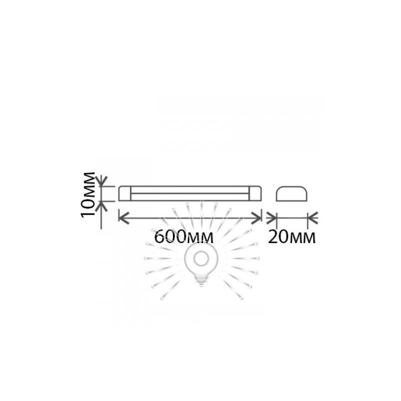 Світильник Lemanso 8W 6500K 560LM 0,6 / LM912-8 прозора кришка Lemanso - 2