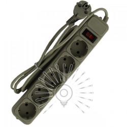 Подовжувач Lemanso з/з + кнопка 1,5м 5 гнізд / LMK058 + фільтр мережевий Lemanso - 1