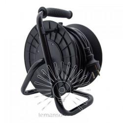Подовжувач-котушка LMK72007 4 гнізда з кришками 30м 16A з/з Lemanso захист від перевантаження, макс нагр 800-3000Вт Lemanso - 1