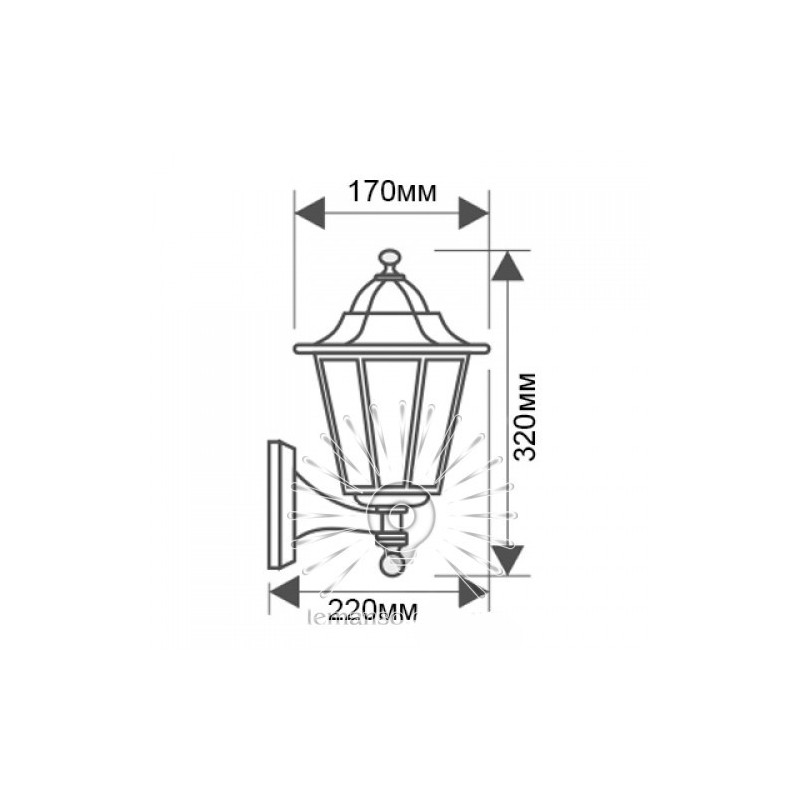 Світильник Lemanso PL6101 60W E27 Lemanso - 4