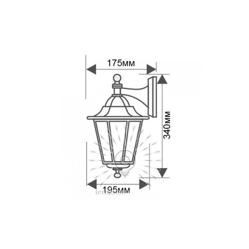 Світильник вуличний Lemanso PL6102 60W E27 Lemanso - 4
