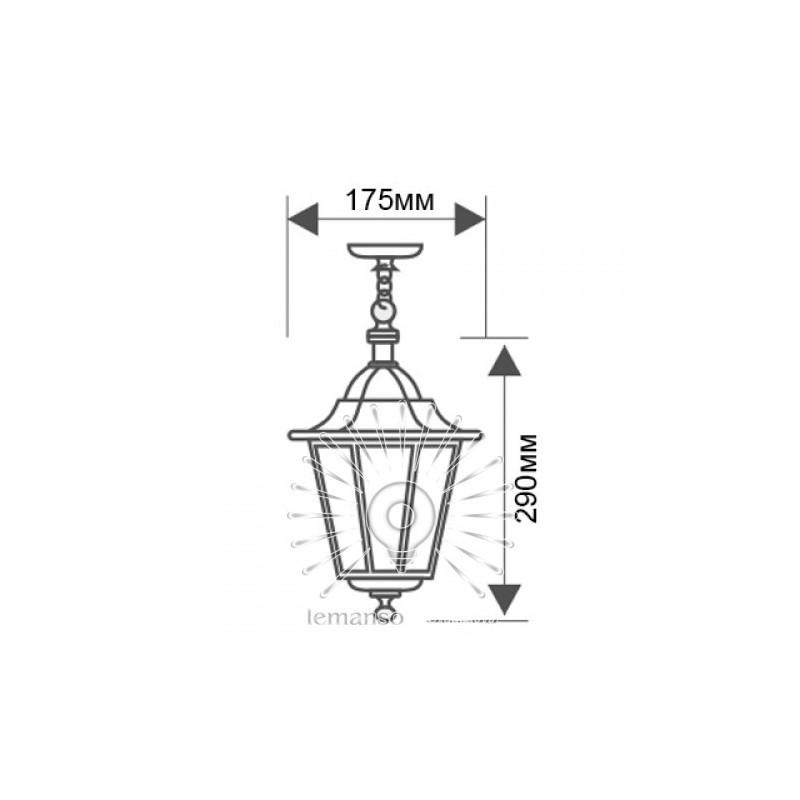 Світильник вуличний Lemanso PL6105 на ланцюжку 60W E27 Lemanso - 4