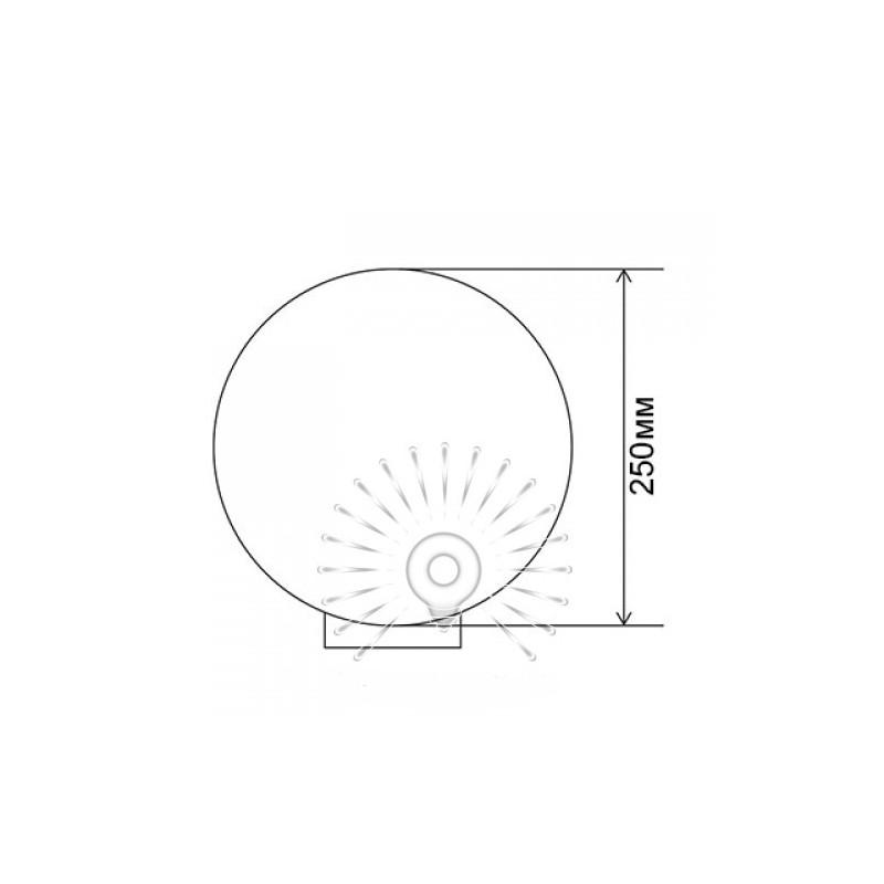 Куля діаметр 250 білий Lemanso PL2104 макс. 40W + база з E27 Lemanso - 2