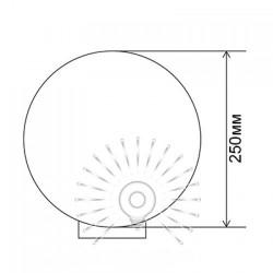 Куля діаметр 250 золотий призматичний Lemanso PL2104 макс. 40W + база з E27 Lemanso - 1