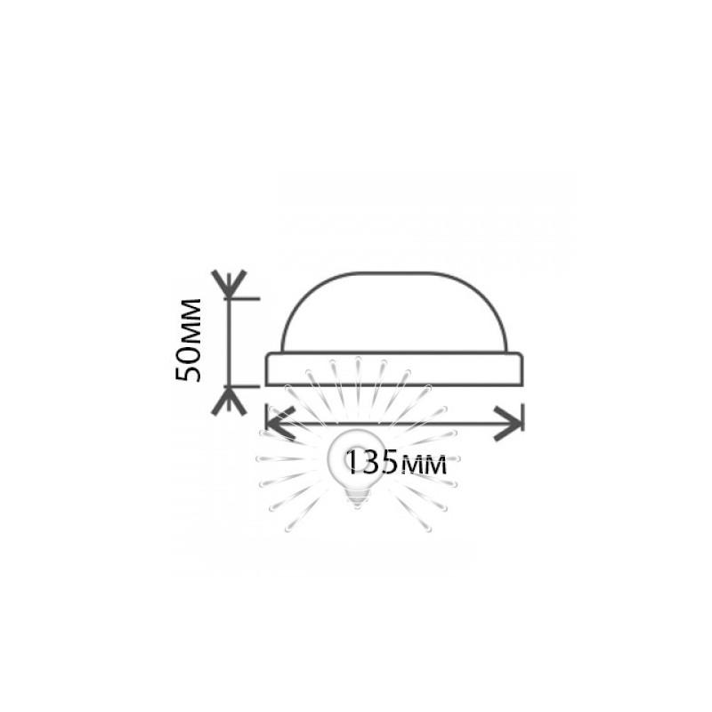 """Світильник LED Lemanso 8W коло білий 180-265V 640LM 6500K """"Глобус"""" IP65 / LM900 Lemanso - 2"""