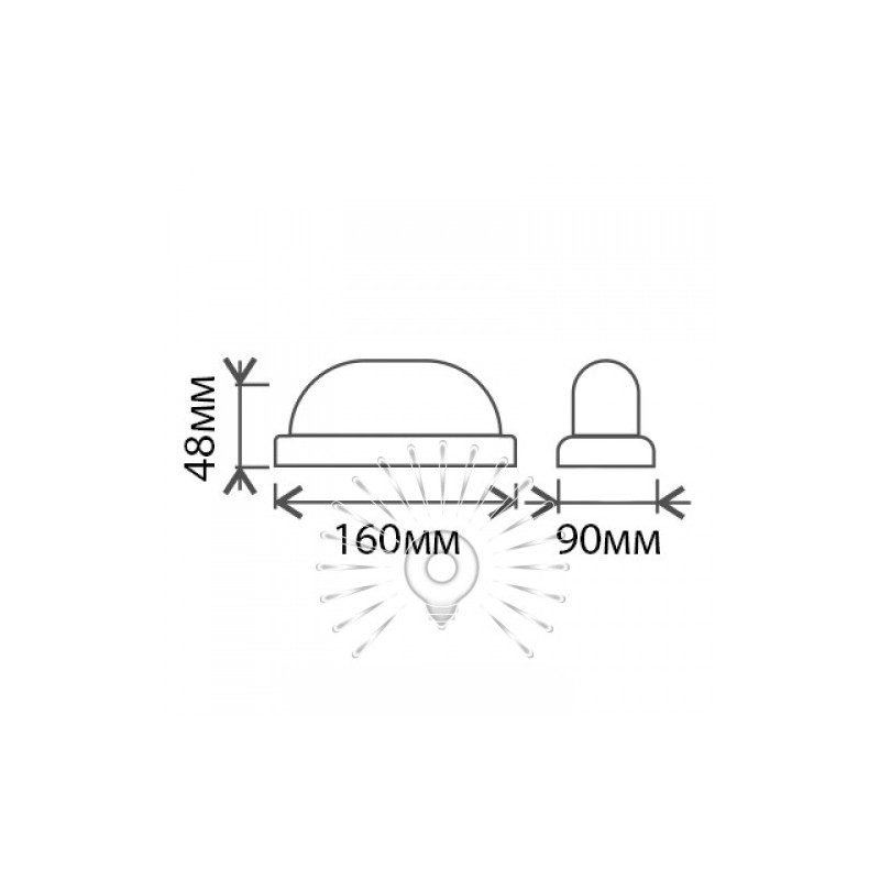 """Світильник LED Lemanso 8W овал білий 180-265V 640LM 6500K """"Меридіан"""" IP65 / LM903 Lemanso - 2"""