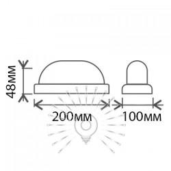 """Світильник LED Lemanso 12W овал білий 180-265V 900LM 6500K """"Меридіан"""" IP65 / LM904 Lemanso - 2"""