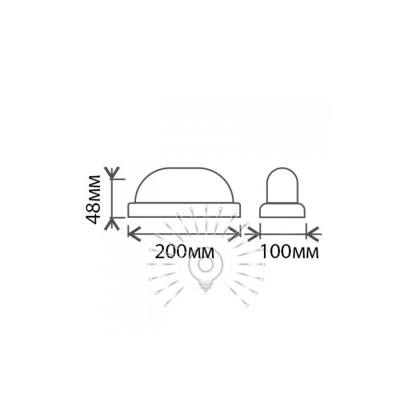 "Светильник LED Lemanso 12W овал белый 180-265V 900LM 6500K ""Меридиан"" IP65 / LM904 Lemanso - 2"