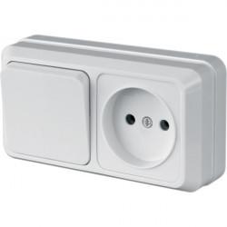 """Блок Выключатель 1 клавишный + розетка одноместная LVR 10-760 ТМ """"LiDER"""" - 1"""