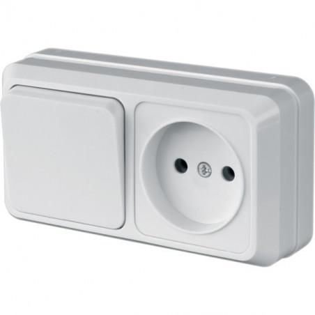 """Блок Вимикач Lider 1 клавішний + розетка одномісна LVR 10-760 ТМ """"LiDER"""" - 1"""