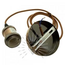 Підвіс металічний Lemanso 100*20мм + E27 ант. червоний 1.5м / LMA3225 для LED ламп Lemanso - 3