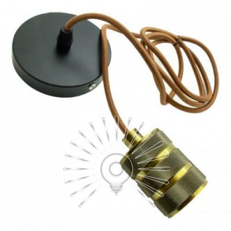 Підвіс металічний Lemanso 100*20мм + E27 ант. золото-чорний 1.5м / LMA3222 для LED ламп Lemanso - 2