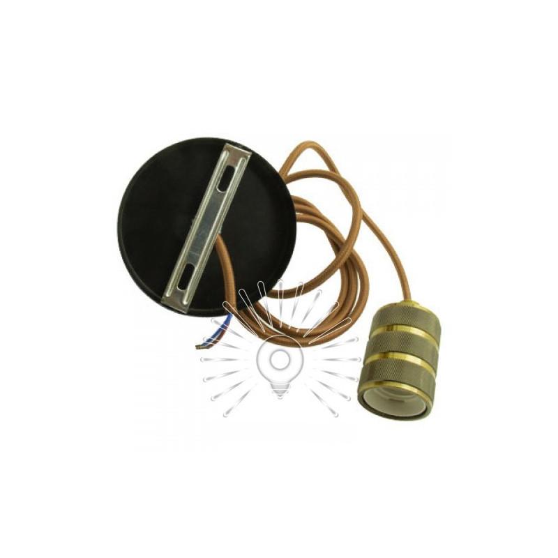 Підвіс металічний Lemanso 100*20мм + E27 ант. золото-чорний 1.5м / LMA3222 для LED ламп Lemanso - 3