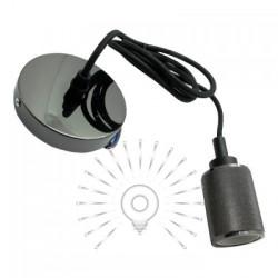 Подвес металлический Lemanso 100*20мм + E27 жемчужно-чёрный 1.5м / LMA3216 для LED ламп Lemanso - 1
