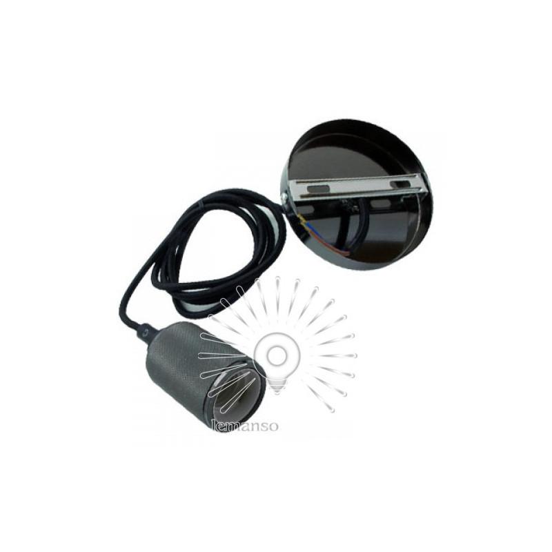 Підвіс металевий Lemanso 100*20мм + E27 перлинно-чорний 1.5м / LMA3216 для LED ламп Lemanso - 2