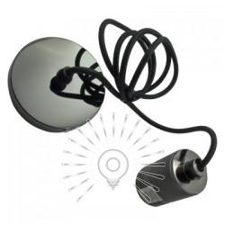 Подвес металлический Lemanso 100*20мм + E27 жемчужно-чёрный 1.5м / LMA3219 для LED ламп Lemanso - 1