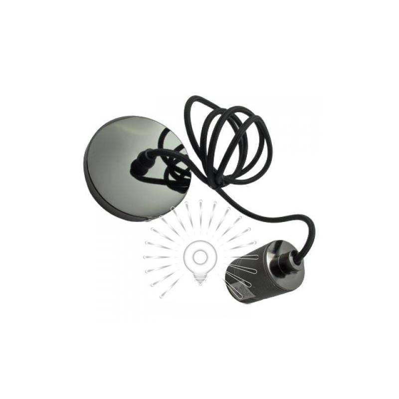 Підвіс металевий Lemanso 100*20мм + E27 перлинно-чорний 1.5м / LMA3219 для LED ламп Lemanso - 1