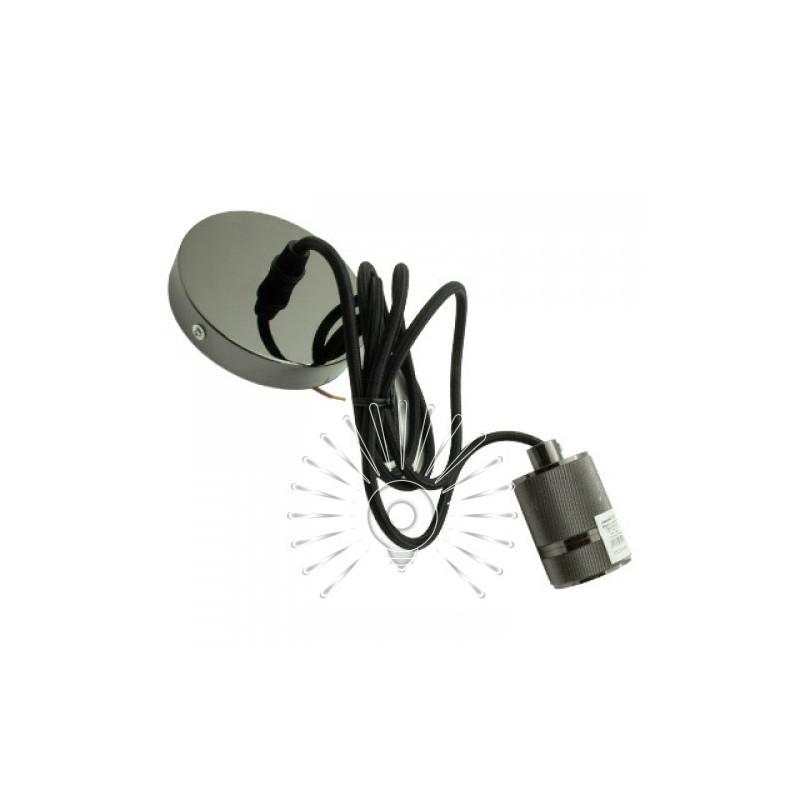 Підвіс металевий Lemanso 100*20мм + E27 перлинно-чорний 1.5м / LMA3219 для LED ламп Lemanso - 2