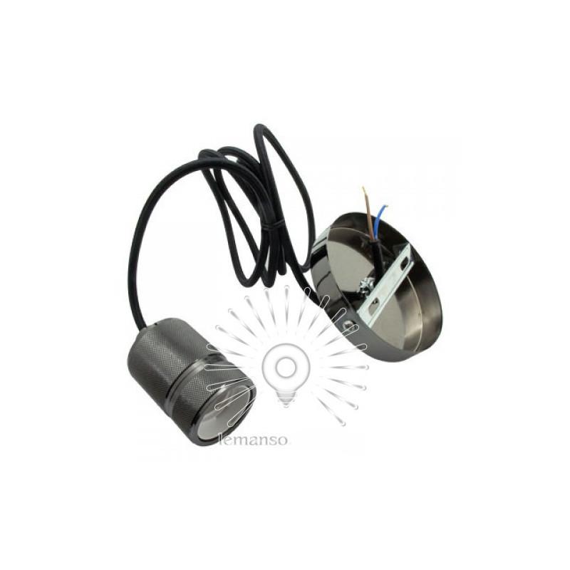 Підвіс металевий Lemanso 100*20мм + E27 перлинно-чорний 1.5м / LMA3219 для LED ламп Lemanso - 3