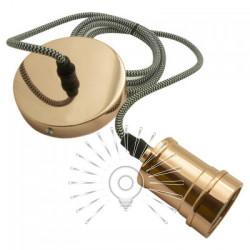 Підвіс металевий Lemanso 100*20мм + E27 рожеве золото 1.5м / LMA3217 для LED ламп Lemanso - 1