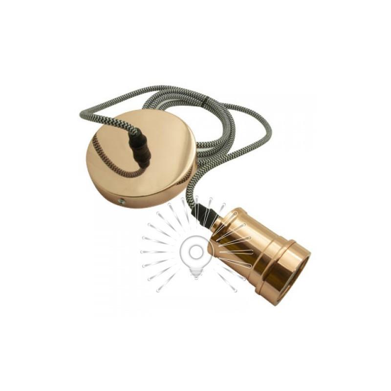 Подвес металлический Lemanso 100*20мм + E27 розовое золото 1.5м / LMA3217 для LED ламп Lemanso - 1